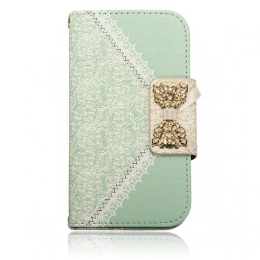 Magnetic Lace Bowknot Leather Wallet Case Cover For Samsung Galaxy S3