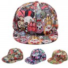Graffiti Eye Vampire Cartoon Hip-Hop Cap Hat Baseball Flat Peak