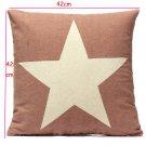 Linen Star Throw Pillow Case Car Cushion Cover Sofa Decorative