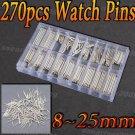 New 270 pcs Watch Spring Bar Strap Link Pins Tools Sets