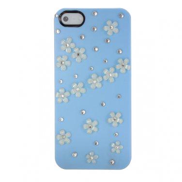 Flower Sparkle Bling Crystal Diamond Slim Hard Case For iPhone 5