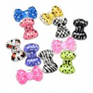 20Pcs 3D Bowknot Bow tie Acrylic Nail Art Decoration 2mm