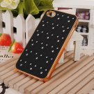 Luxury Doll Shape Matte Diamond Design Hard Case Cover iPhone 4S 4G