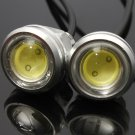 2PCS Car 3W LED Eagle Eye Daytime Running Tail Light Backup Lamp