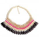 Bohemian Tassels Drop Beads Choker Chain Bib Statement Necklace