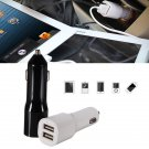 Mini Dual Port USB Car Charger LED Indicator Adapter