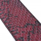 Red Python Style Guitar Strap PU Leather For Belt Electric Bass Soft