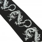 Guitar Strap For Belt Electric Acoustic Folk Bass Dragon Pattern Black