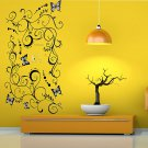 DIY Butterfly Vine Flowers House Decro Room Bedroom Wall Sticker