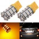 T20 3528 SMD 54 LED Amber Yellow Turn Signal Blinker Light Bulb