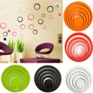 1 Set Circles Creative Stereo Removable 3D DIY Wall Stickers