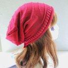 Women Fashion Stripe Wool Cap Knit Hat
