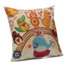 Kid Cartoon Dancing Animal Zoo Throw Pillow Case Sofa Cushion Cover