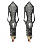 2x Universal Motorcycle LED Turn Signal Indicator Light 12V