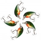 5Pics Fishing Lures Tackle VCM 3D Eyes Hook Swimbait Baits