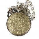 Vintage Big Ben Map Eiffel Tower Chain Pocket Watch Necklace