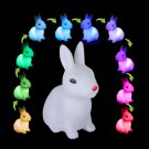 Cute Rabbit Color Changing LED Night Lamp Light Room Christmas Gift