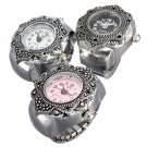 Fashion Flower Shaped Appearance Finger Ring Quartz Watch 3 Colors