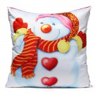 Christmas Linen Cotton Throw Pillow Case Sofa Home Car Cushion Cover