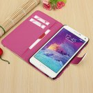 Flip Leather Wallet Cards Case Stand For Samsung Galaxy Note 4 N9100
