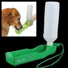 Plastic Portable Pet Dog Cat Water Feeding Feeder Bottle Drink Bowl