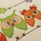 Linen Owls Throw Pillow Case Sofa Cushion Cover Home Decor