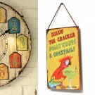 Parrot Cocktail Tin Sign Vintage Pub Bar Wall Decor Christmas Gift