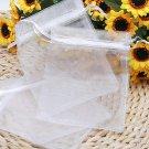 100Pcs White Organza Pouch Wedding Jewelry Gift Bag 9X11cm