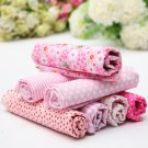 Pink Series 7 Assorted Charm Cotton Printed Fabric Quarter Quilt Cloth