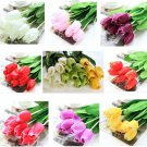 10 Bouquet Artificial Tulip Silk Flowers Home Party Decor