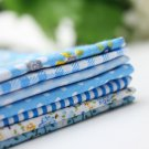 Blue Series 7 Assorted Cotton Quilt Fabric Charm Striped Fabrics