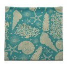Ocean Animal Fish Shells Pattern Cotton Linen Pillow Case