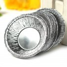 125 pcs Disposable Silver Foil Baking Cookie Cup Cake Tart Mold Round