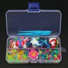 50Pcs Charms Pendants Clips Hooks Box Kit DIY Rubber Bands Bracelet