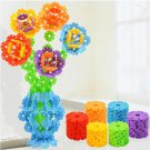 128Pcs Multicolor Snowflake Creative Building Blocks