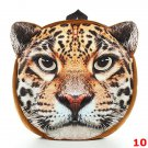 3D Cartoon Dog Cat Face Pattern Women Backpack Animal Schoolbag