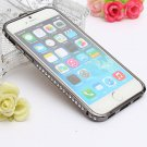 Diamond Crystal Aluminum Metal Bumper Frame Buckle Case For iPhone 6