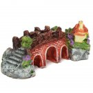 Aquarium Fish Tank Antique Resin Bridge Landscaping Ornament
