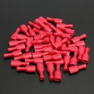 100pcs 6.3mm Fully Insulated Female Spade Connector Crimp Terminal