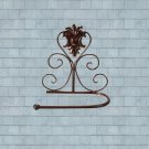 Classical Bronzy Iron Toilet Paper Roll Holder Bathroom Wall Rack