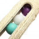Pet Cat Toy Rolling Sisal Scratching Post 3 Trapped Ball Training