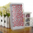 Electroplating Hollow Pattern Protect PC Hard Case For iPhone 4