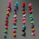 60 Pairs Trendy Multiple Styles Heels Sandals For Barbie Dolls