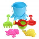 7 PCS Kids Octopus Bucket Spade Rake Pot Sand Water Beach Tools Toy