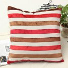 Minimalist Pillow Cases Colorful Stripe Velveteen Cushion Covers Home