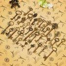 36pcs Metal Retro Vintage Keys of Assorted Styles DIY Accessories