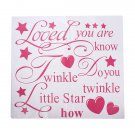 45cm*41cm Twinkle Little Star Vinyl Word Quote Wallpaper Wall Sticker