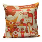 Linen Musical Guitar Throw Pillow Case Sofa Car Cushion Cover