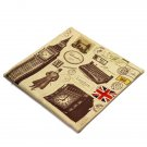 Retro British Style Pillow Case Cotton Linen Home Decoration