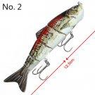 Multi Jointed Fishing Lure Bass Bait Jerk Lifelike 4Sections Swimbait